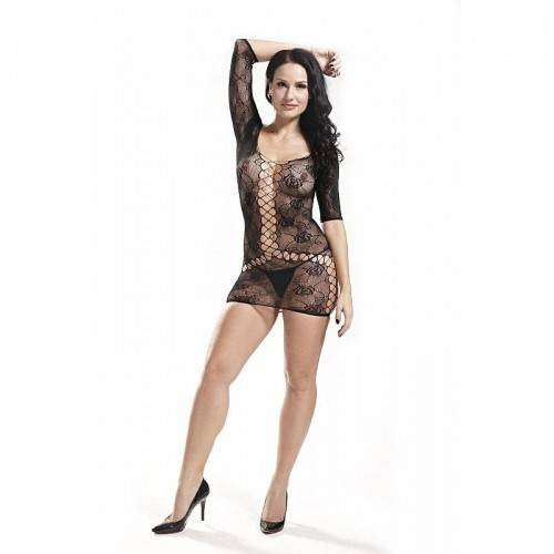 Vestido Rendado - Bodystocking - 3501
