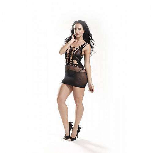 Vestido Rendado - Bodystocking - 3507