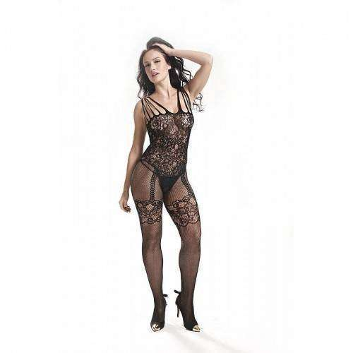 Macacão Rendado - Bodystocking - 3542