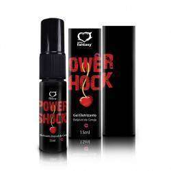 Gel Excitante Eletrizante Power Shock Beijável - Cereja - 15ml SPRAY