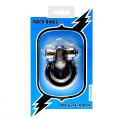 Anel Peniano duplo em silicone com estimulador The Earthmover Ball Cock Ring - Rock Rings