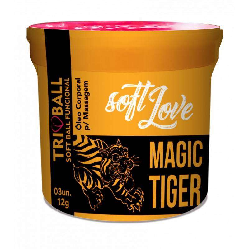 Soft ball triball Magic Tiger - c/ 3 unidades - Soft Love
