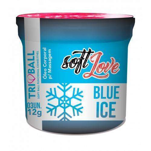 Soft ball triball Blue Ice - c/ 3 unidades - Soft Love