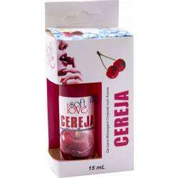 Gel Comestível Excita e Esfria - ICE 15ml - Soft Love - CEREJA