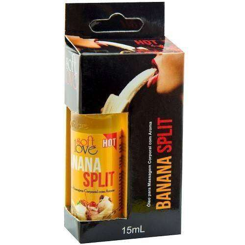 Gel Comestível Excita e Esquenta - Hot 15ml - Soft Love - BANANA SPLIT