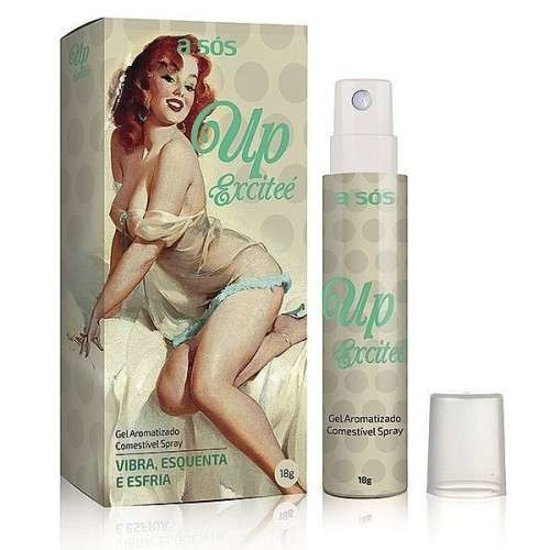 Gel Up Excitee A Sós Excitante Comestível Spray - 18g