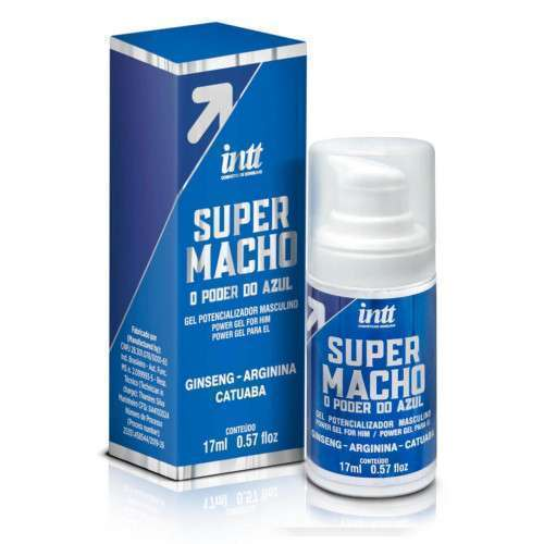 SUPER MACHO - Potencializador Masculino INTT O Poder do Azul - 17 ML