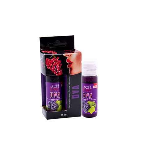 Gel Comestível Excita e Esquenta - Hot 15ml - Soft Love - UVA