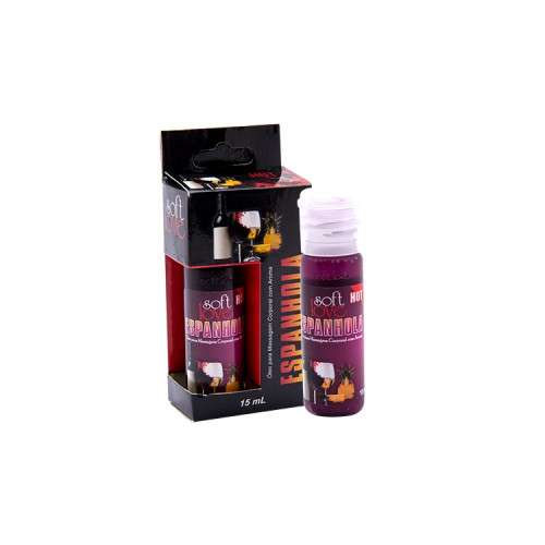 Gel Comestível Excita e Esquenta - Hot 15ml - Soft Love - ESPANHOLA